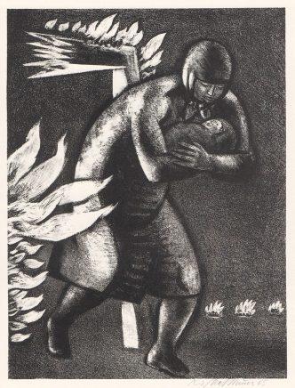 Wolfgang Mattheuer, Flüchtende, 1965, Lithographie, 43,7 x 32,9 cm
