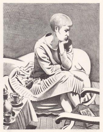 Wolfgang Mattheuer, Junge Frau (Inge) , 1962, Lithografie, 47,5 x 36,5 cm