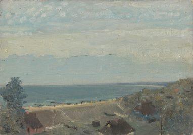 Wolfgang Mattheuer, Ostsee, 1954, Öl auf Malpappe, 20,5 x 29 cm