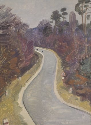 Wolfgang Mattheuer, Waldstraße, 1961, Öl auf Hartfaser, 39,5 x 29,5 cm