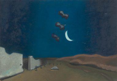 Wolfgang Mattheuer, Nacht, 1964, Öl auf Hartfaser, 36,5 x 50,5 cm