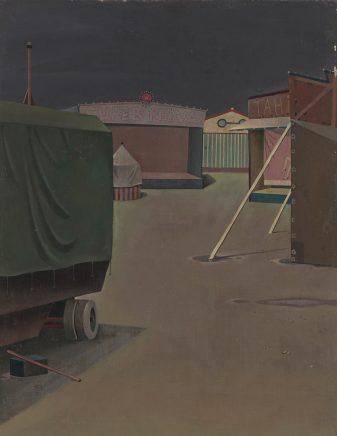 Kirmes, 1962, 1962, Öl auf Hartfaser, 45,5 x 35,5 cm