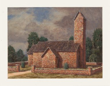 Kirche, 2017, 9 x 12 cm