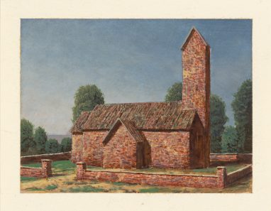 Kirche II, 2017, 9 x 12 cm