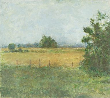 Mecklenburger Landschaft III, 2002, Öl auf Leinwand, 76 x 90 cm