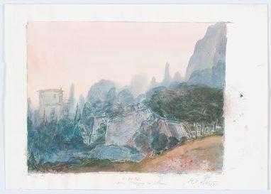 Ein Morgen bei Athen, 1982, Aquarell, 19,5 x 25,5 cm
