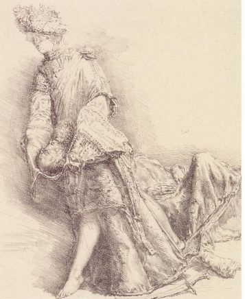 Judith, 1981, Kreidelithografie, 26 x 21 cm
