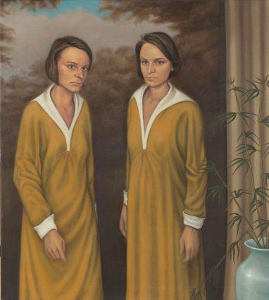 Zwilling, 2013, Öl auf Leinwand, 100 x 90 cm