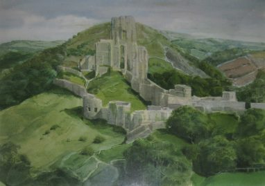 Michael Triegel, Corf Castle, Dorset, 2008, Aquarell, 22 x 29,5 cm