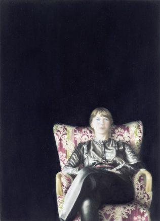 o.T. (16), 2014, Öl auf Aludibond, 18 x 13 cm