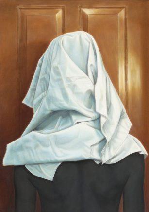 Kopftuch, 2017, Acryl und Öl auf Leinwand, 70 x 50 cm