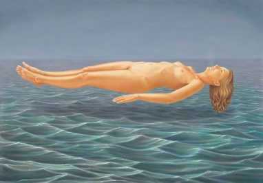 Aga - Levitation, 2017, Acryl und Öl auf Leinwand, 140 x 200 cm