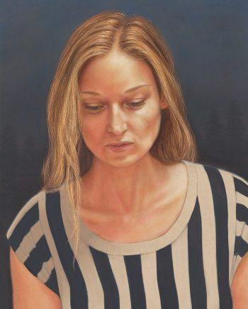 Portrait Kerstin, 2017, Acryl und Öl auf Leinwand, 40 x 30 cm