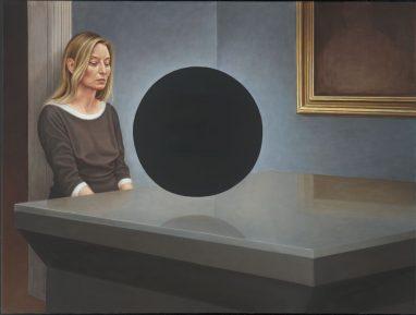 Blinder Fleck, 2017, Acryl und Öl auf Leinwand, 90 x 120 cm