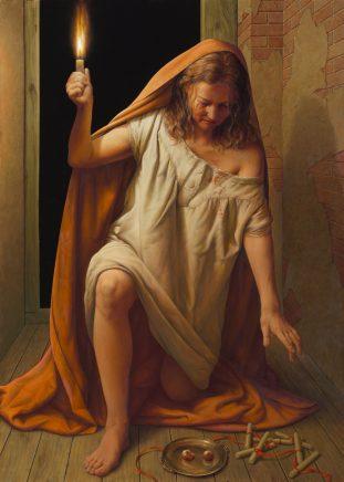 Lucia, 2012, Mischtechnik auf Leinwand, 140 x 100 cm