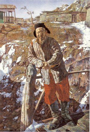 Werner Tübke, Bildnis eines usbekischen Bauern, 1964