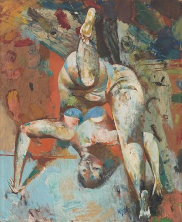 Willi Sitte, Kopfstand, 1961
