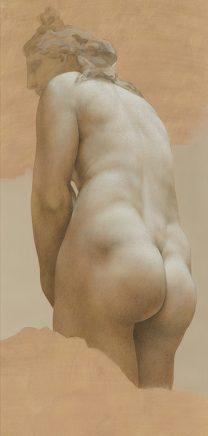 Kapitolinische Venus, 2013, Acryl auf grundiertem Papier, 138 x 61 cm