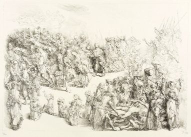 Auf dem weißen Berg (Müntzer), 1981, Kreidelithografie, 28,5 x 41,3 cm