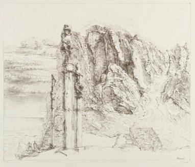Sinai, 1989, Kreidelithografie, 30 x 35 cm