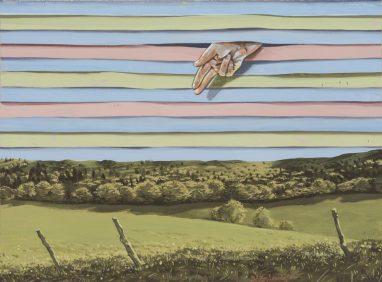 Volker Blumkowski, L'Intervention, 2017, Acryl und Gouache auf Bütten, 28,5 x 39 cm