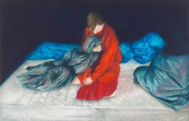 o.T. (34), 2016, Öl auf Aludibond, 11 x 17 cm