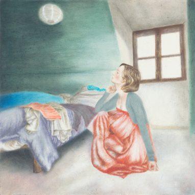 o.T. (36), 2017, Öl auf Aludibond, 15 x 15 cm