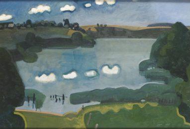 Wolfgang Mattheuer, Carwitzer Seelandschaft, 1958,Öl auf Leinwand, 45 x 59 cm