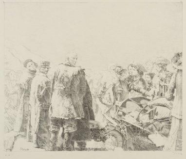 Störung, 1989, Kreidelithografie, 22 x 26 cm