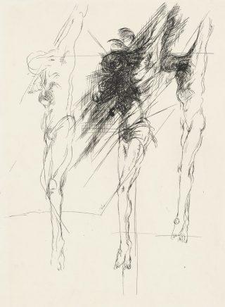 Arno Rink, Kreuzigung, 1984, Tusche_Papier, 51 x 36,6 cm