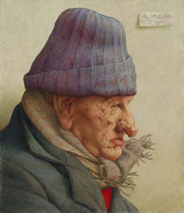 Alter in Neapel, 2016, Eitempera auf Hartfaser, 36,5 x 31 cm