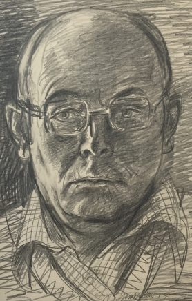 Selbstbildnis, 1977, Bleistift