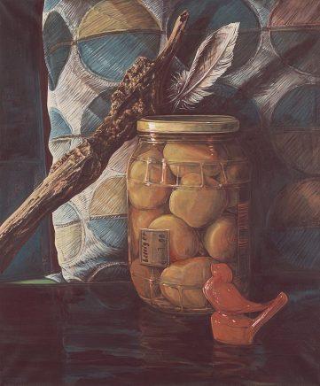 Sten Gutglück, Like Monet I, 2017, Eitempera auf Leinwand, 60 x 50 cm