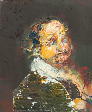 o.T. (#75), 2014, Öl auf Leinwand, 30 x 24 cm