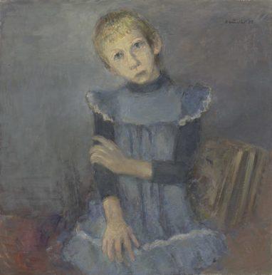 Rolf Händler, Anna K., 1982, Öl auf Leinwand, 60 x 60 cm