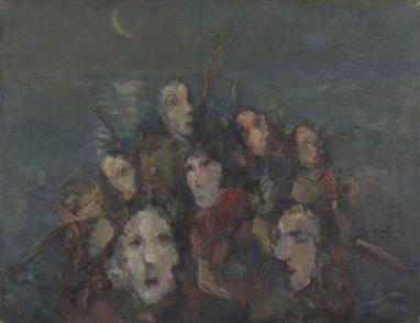 Rolf Händler, Studie Überfahrt II, 1986, Öl auf Leinwand, 50 x 65 cm
