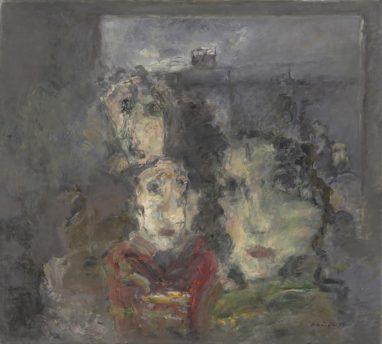 Rolf Händler, Quo vadis, 1989, Öl auf Leinwand, 80 x 90 cm