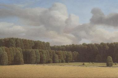 Markus Matthias Krüger, Schonung, 2019, Acryl und Öl auf Leinwand, 60 x 90 cm
