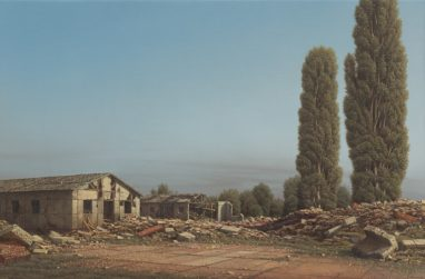 Markus Matthias Krüger, Halde, 2020, Acryl und Öl auf Leinwand, 30 x 45 cm