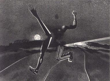 Wolfgang Mattheuer, Aggression, 1982, Linolstich, 56 x 76 cm