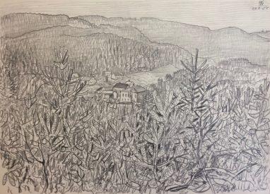 Bei Reichenbach im Vogtland, 1980, Bleistift, 23 x 33 cm