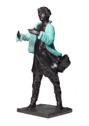 Frank Hauptvogel, Blaujacke II, 2013/2021, Bronze, H ca. 60 cm, Aufl.: 6