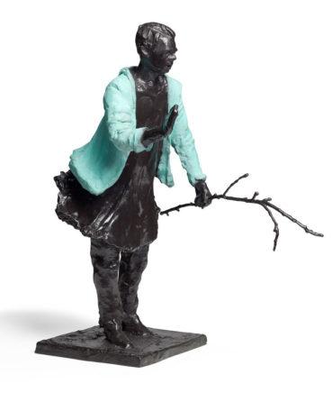 Frank Hauptvogel, Blaujacke III, 2013/2021, Bronze, H ca. 60 cm, Aufl.: 6