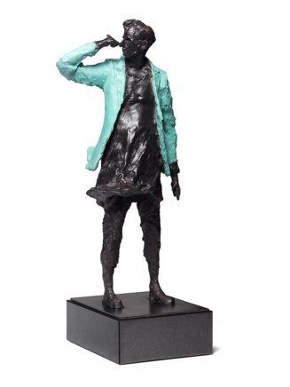 Frank Hauptvogel, Blaujacke IV, 2014, Bronze, H 63