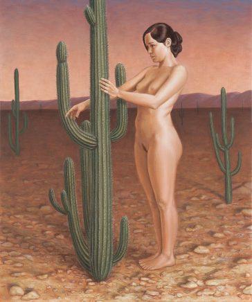 Leif Borges, Arizona, 2018, Acryl und Öl auf Leinwand, 60 x 50 cm