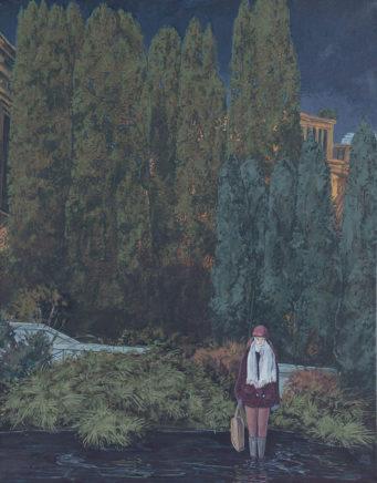 Sten Gutglück, Secret Reality III, 2020, Acryl auf Leinwand, 50 x 40 cm