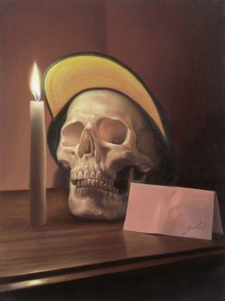 Leif Borges, Yolo, 2020, Acryl und Öl auf Holz, 40 x 30 cm