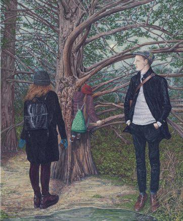 Sten Gutglück, Follow your dreams, 2020, Acryl auf Leinwand, 60 x 50 cm