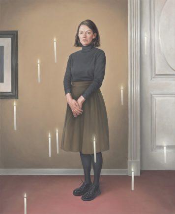 Leif Borges, Blowout, 2020, Acryl und Öl auf Leinwand, 160 x 130 cm