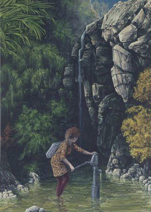 Sten Gutglück, Playground, 2020 Acryl auf Leinwand, 70 x 50 cm